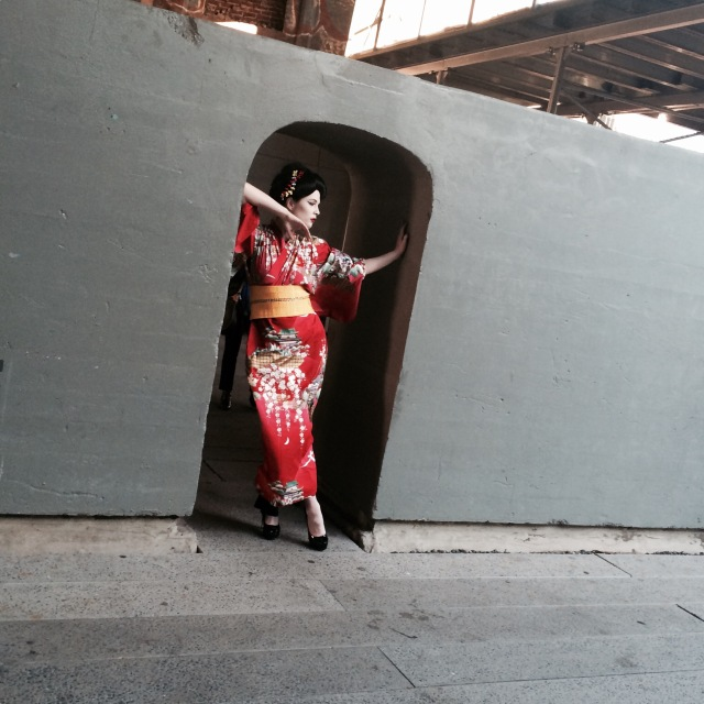 Geisha, photo shoot, High Line, New York City