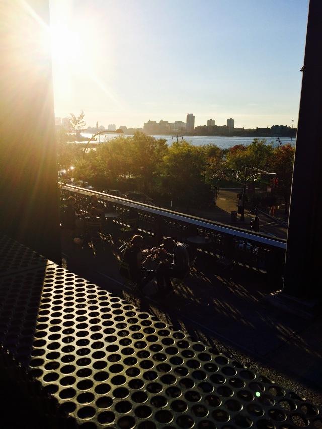 Golden light, The High Line, New York, NYC