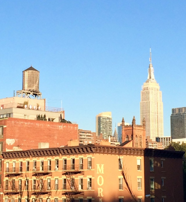 Water tower seen from The High Line, NYC