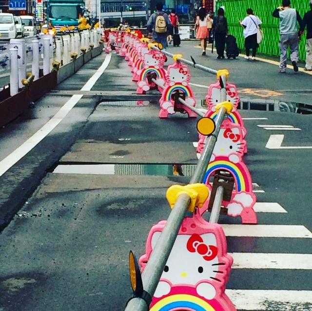 Hello Kitty roadworks, Tokyo, Japan