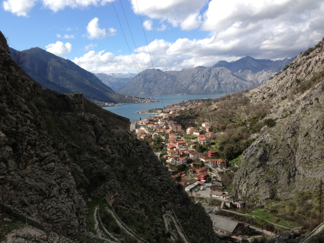 City walls and switchback Kotor